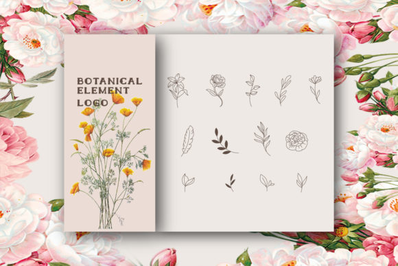 Botanical Logo Element Graphic Logos By byemalkan