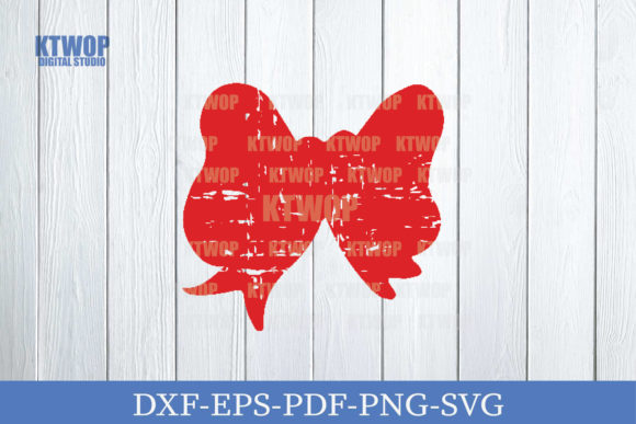 Print on Demand: Christmas Grunge Elements Bow Graphic Crafts By KtwoP
