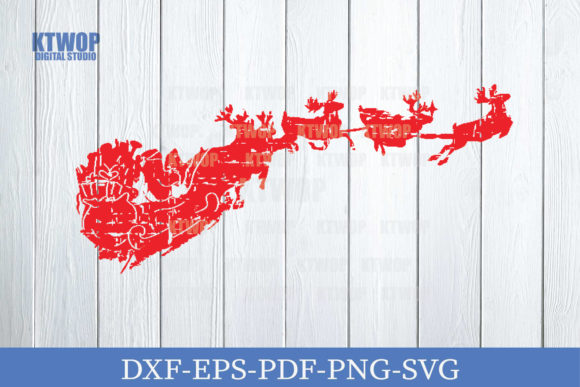 Print on Demand: Christmas Grunge Elements Santa Claus Graphic Crafts By KtwoP