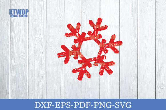 Print on Demand: Christmas Grunge Elements Snow Flake Graphic Crafts By KtwoP