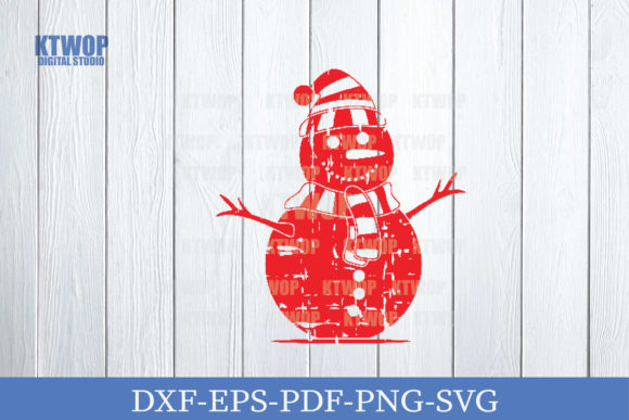 Print on Demand: Christmas Grunge Elements Snowman Graphic Crafts By KtwoP