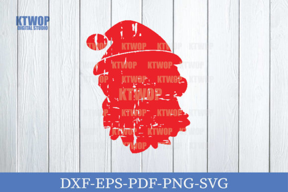 Print on Demand: Christmas Grunge Elements Santa Face Graphic Crafts By KtwoP