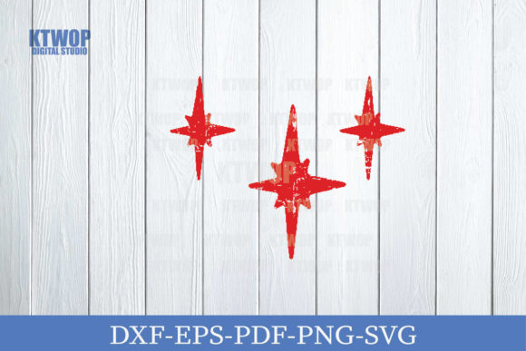 Print on Demand: Christmas Grunge Elements Star Graphic Crafts By KtwoP