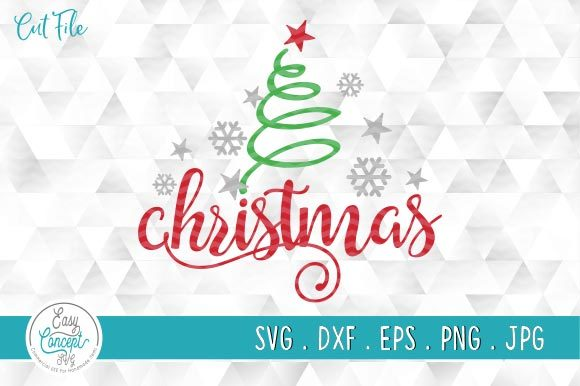 Christmas Tree Svg Graphic Crafts By EasyConceptSvg - Image 1