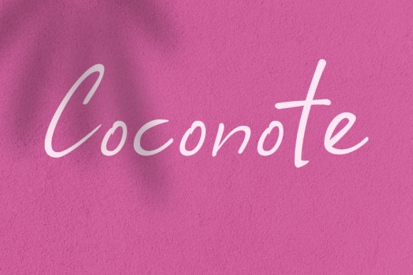 Print on Demand: Coconote Script & Handwritten Font By andikafez