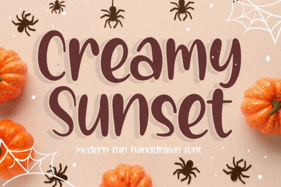 Print on Demand: Creamy Sunset Display Font By Balpirick