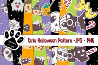 Print on Demand: Cute Halloween Pattern Graphic Patterns By 18CC