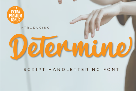 Print on Demand: Determine Script & Handwritten Font By twinletter