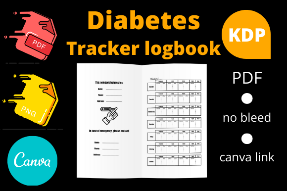 Print on Demand: Diabetes Tracker Logbook KDP Interior Graphic KDP Interiors By Dunkyshot