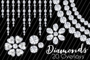 Diamonds Clip Art / 20 Images, Overlays Graphic Illustrations By paperart.bymc