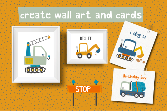 Diggers Clipart Set Graphic Download