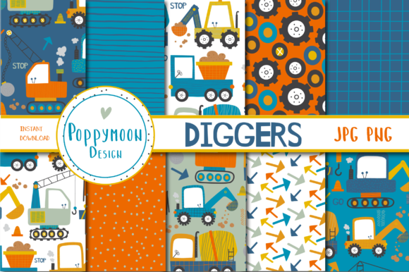 Diggers Paper Set Graphic
