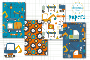 Print on Demand: Diggers Paper Set Graphic Patterns By poppymoondesign 2