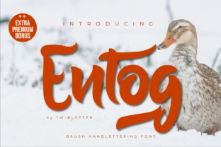 Print on Demand: Entog Script & Handwritten Font By twinletter