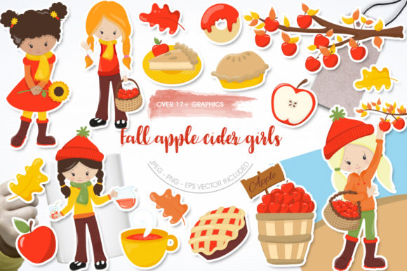 Fall Apple Cider Girls Graphic
