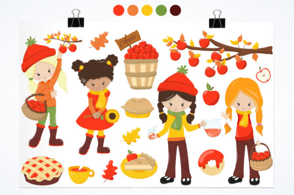 Fall Apple Cider Girls Graphic Download