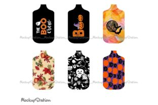 Print on Demand: Fall Halloween Hand Sanitizer Holder PNG Graphic Objects By Mockup Station 2