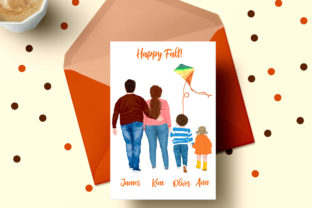 Print on Demand: Fall Plus Size Family Fall Landscape Graphic Illustrations By LeCoqDesign 4