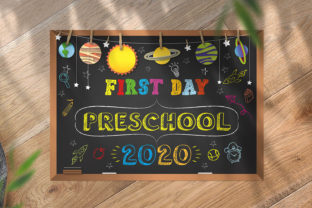 Print on Demand: First Day of Preschool Sign Graphic Print Templates By OWPictures