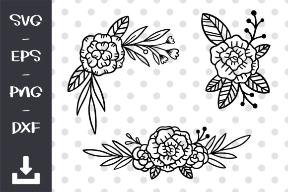 Flowers Cut File, Floral Svg Graphic Objects By wanchana365