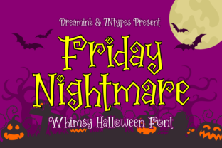 Print on Demand: Friday Nightmare Display Font By Dreamink (7ntypes)