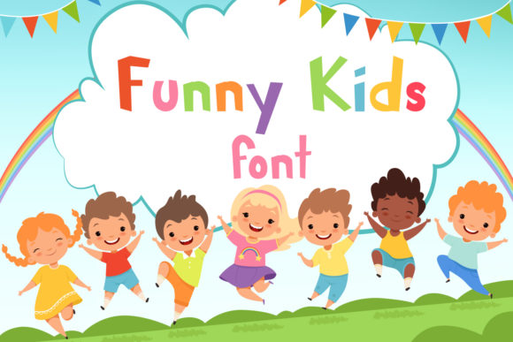 Print on Demand: Funny Kids Display Font By OWPictures