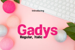 Print on Demand: Gadys Display Font By da_only_aan