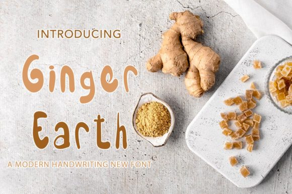 Print on Demand: Ginger Earth Display Font By morningmondayy - Image 1