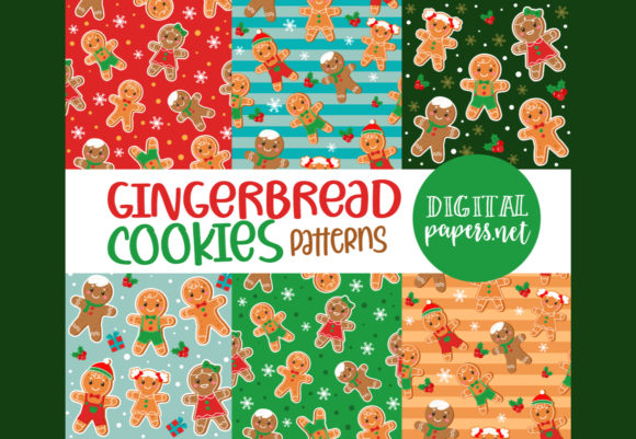 Print on Demand: Gingerbread Men Repeat Patterns Graphic Illustrations By DigitalPapers