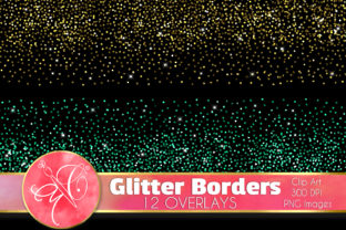 Glitter Confetti, Overlays Graphic Illustrations By paperart.bymc