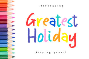 Print on Demand: Greatest Holiday Display Font By Abodaniel 1