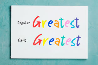 Print on Demand: Greatest Holiday Display Font By Abodaniel 9