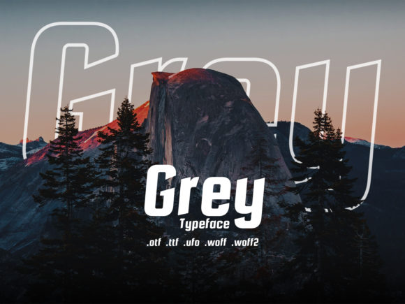 Print on Demand: Grey Sans Serif Font By Design Stag