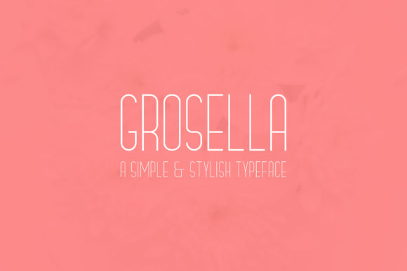 Print on Demand: Grosella Sans Serif Font By hielmannuraddin