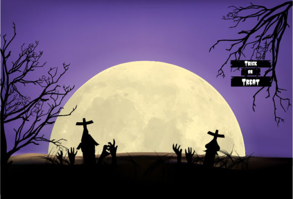 Print on Demand: Halloween Background Design Graphic Illustrations By ngabeivector