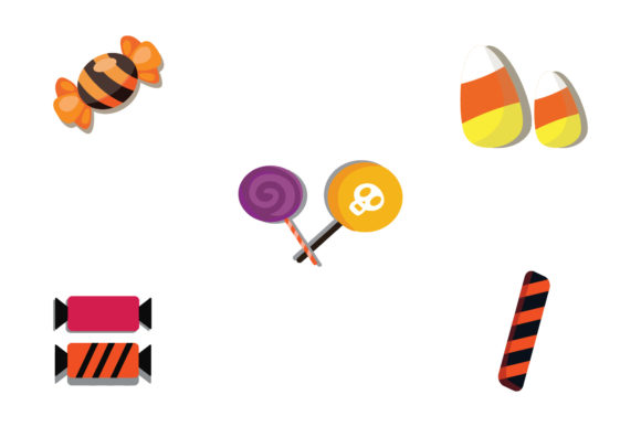 Halloween Candy Set Illustration Vector Graphic Illustrations By 1riaspengantin