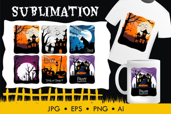 Print on Demand: Halloween Sublimation Illustration Graphic Illustrations By edywiyonopp
