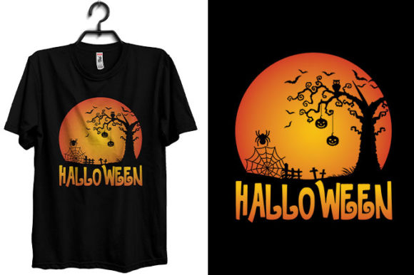 Halloween T-shirt Design with Pmpkin Graphic Print Templates By Storm Brain