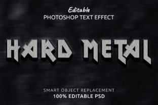 Print on Demand: HardMetal Photoshop Editable Text Effect Graphic Layer Styles By IYIKON