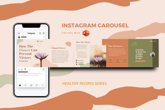 Print on Demand: Healthy Tips Instagram Carousel Template Graphic Presentation Templates By rivatxfz