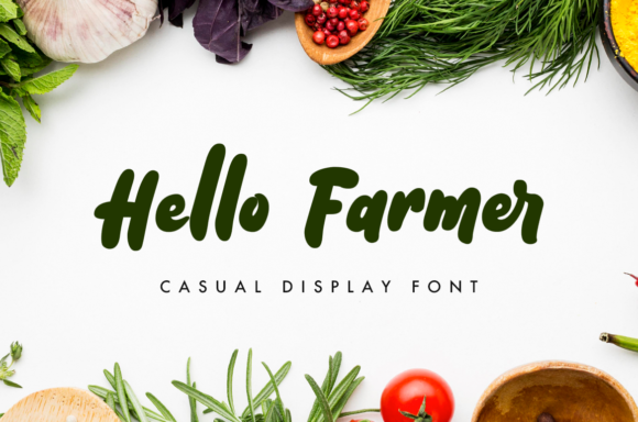 Print on Demand: Hello Farmer Script & Handwritten Font By nurfdesigns