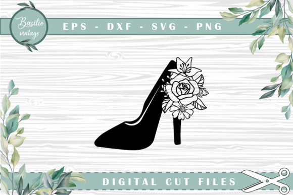 Download High Heels Floral Cutting Files SVG Cut Files