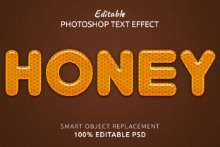 Print on Demand: Honey Photoshop Editable Text Effect Graphic Layer Styles By IYIKON