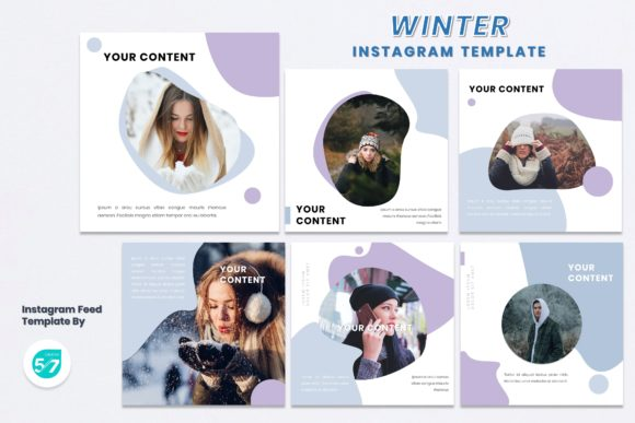 Instagram Feed Template - Winter Graphic Presentation Templates By maju57creative