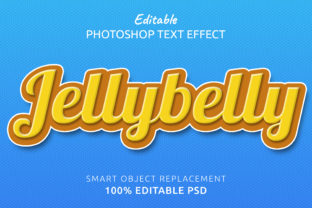 Print on Demand: Jelly Photoshop Editable Text Effect Graphic Layer Styles By IYIKON
