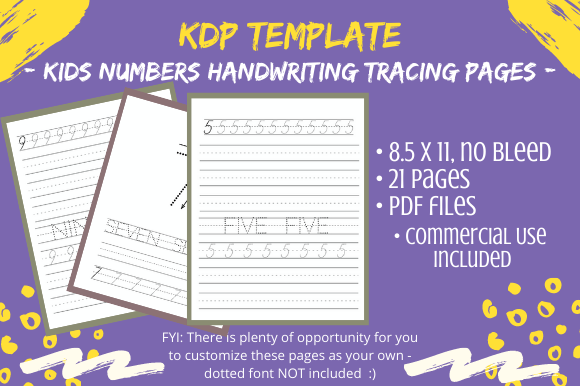 Print on Demand: KDP Handwriting Numbers Practice Pages Graphic KDP Interiors By Tomboy Designs