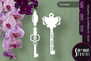 Key Dangles Vector Cuts Graphic Crafts By Sun At Night Studios