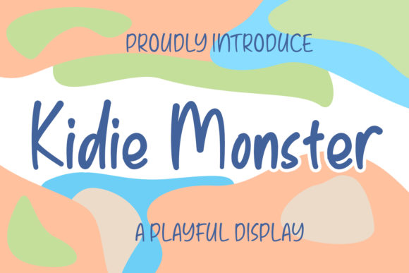 Print on Demand: Kidie Monster Display Font By Azcreative Studio