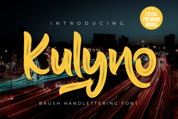 Print on Demand: Kulyno Display Font By Productype