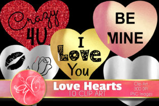 Love Hearts Clip Art Graphic Illustrations By paperart.bymc